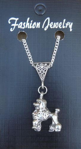 "18"" 24 Inch Necklace & Poodle Dog Pendant Charm Animal Lovers Caniche Barbon New"